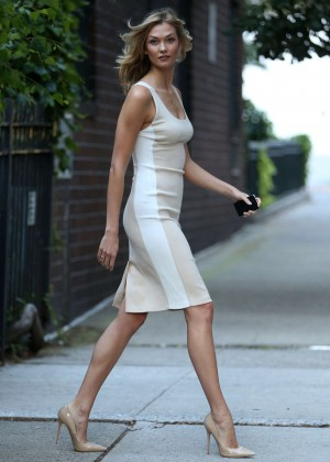 Karlie Kloss in Tight Dress out in NYC