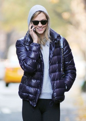 Karlie Kloss In Tights Out And About In New York-11