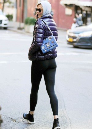 Karlie Kloss In Tights Out And About In New York