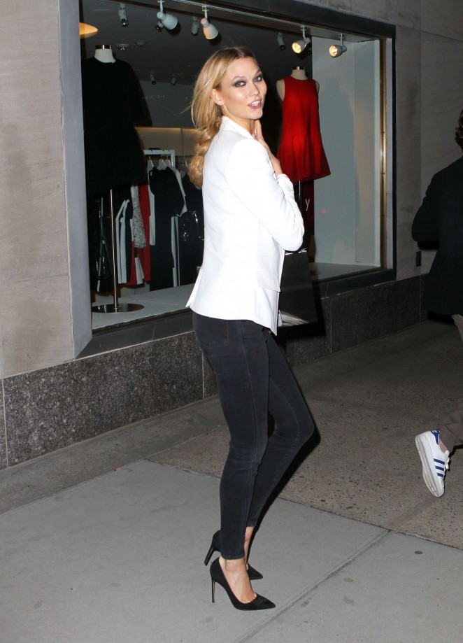 Karlie Kloss in Tights Out and about in NYC