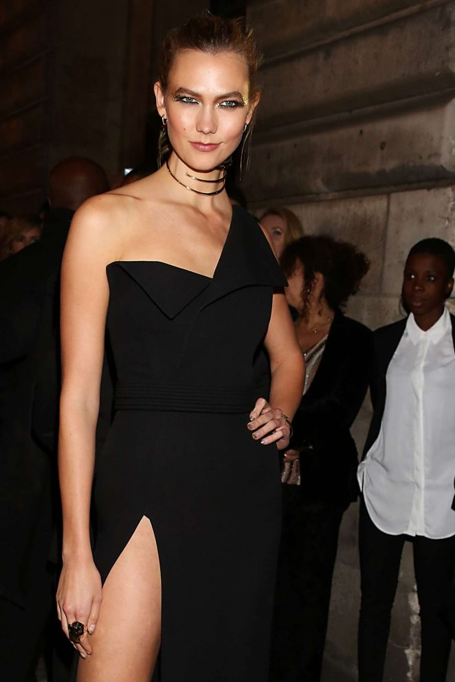 Karlie Kloss – L'Oreal Gold Obsession Party 2016 in Paris