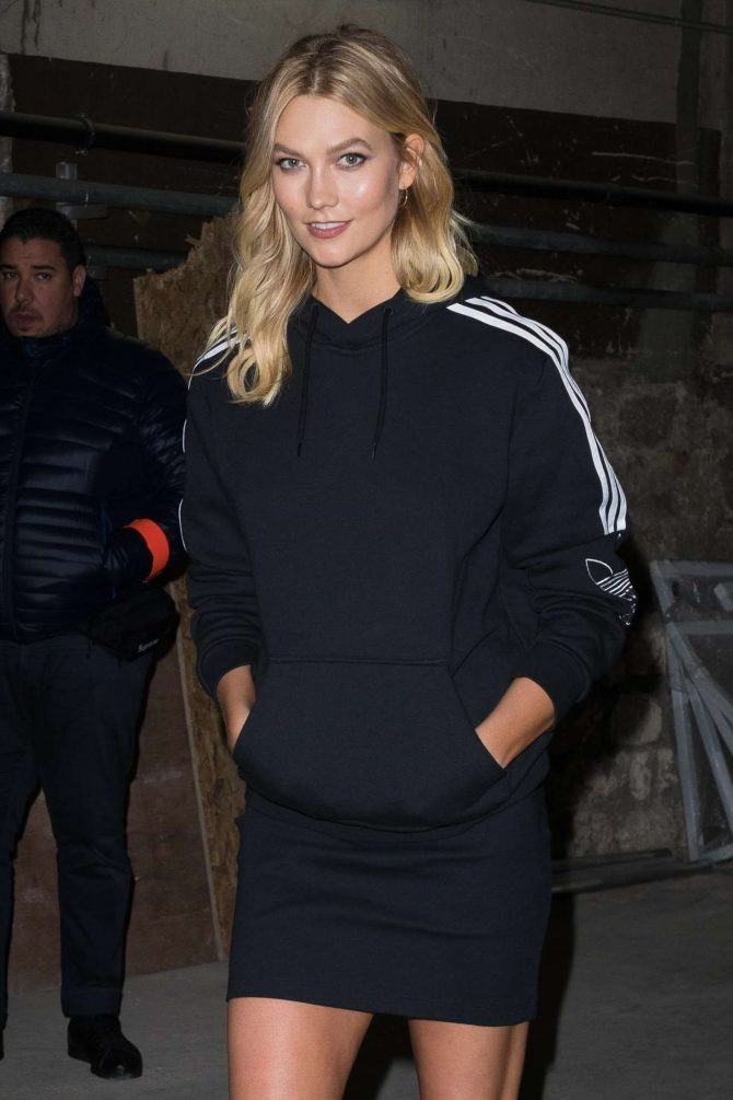 Karlie Kloss – Leaves Adidas Event in Paris
