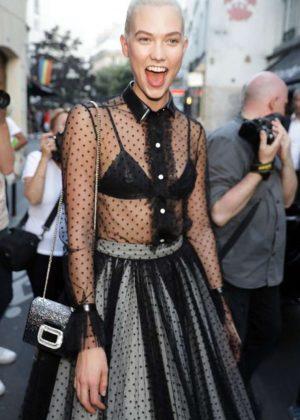 Karlie Kloss - Leaves Azzedine Alaia Fashion Show 2017 in Paris