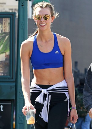 Karlie Kloss Leaving a gym session in New York City