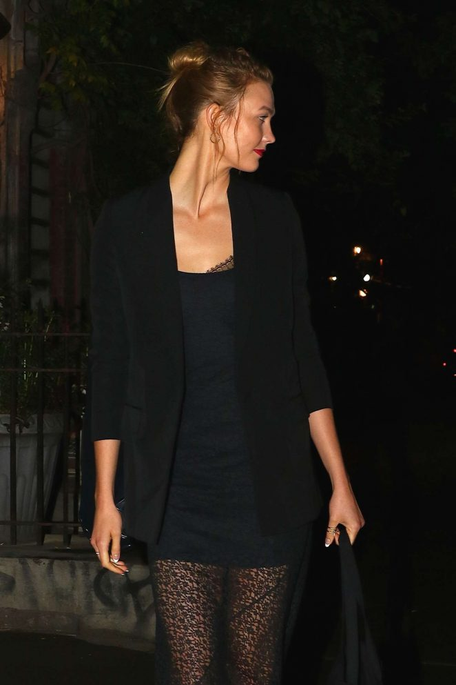 Karlie Kloss - Leaving a private dinner party in New York City