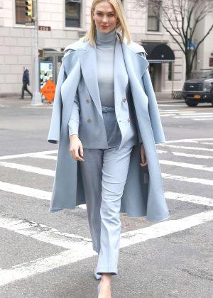 Karlie Kloss - Leaving Ralph Lauren Show in New York