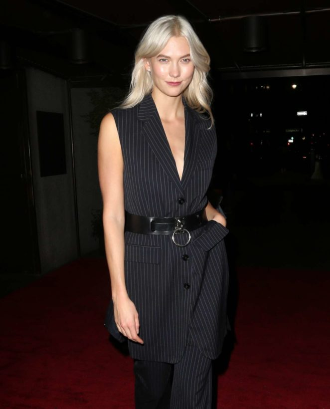 Karlie Kloss - Leaving the Bumble Bizz dinner in NYC