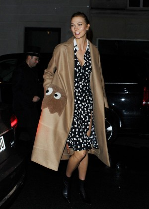 Karlie Kloss - Leaving the Dior Afterparty at Angelina's in Paris