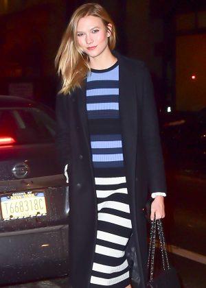 Karlie Kloss nightout in New York