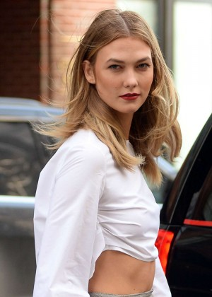 Karlie Kloss On Photoshoot in West Village
