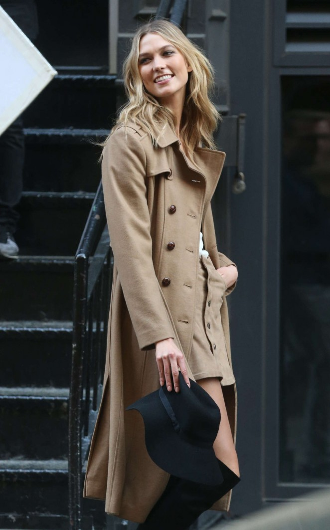 Karlie Kloss: Photoshoot in NYC -65