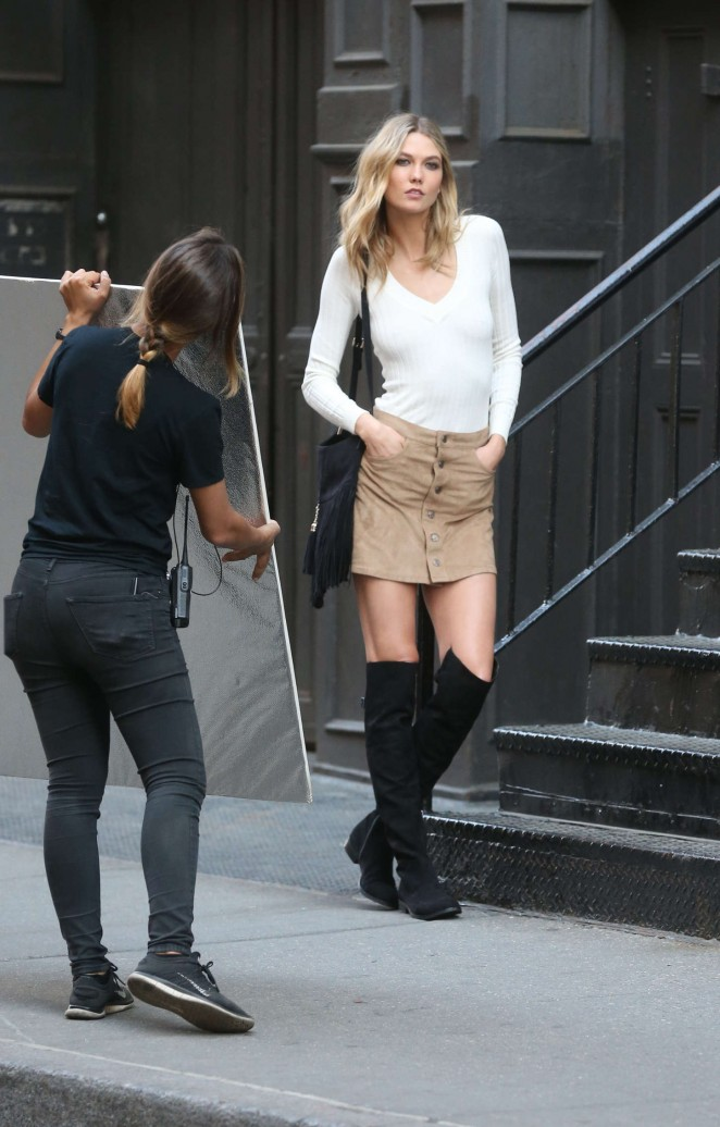 Karlie Kloss: Photoshoot in NYC -72