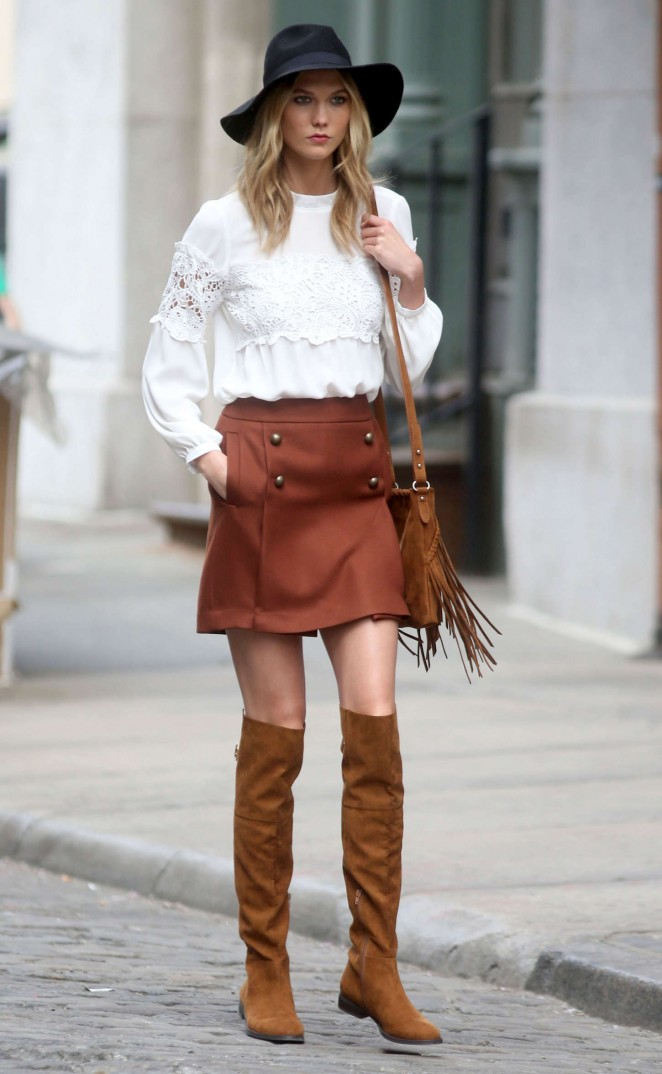 Karlie Kloss: Photoshoot in NYC -77