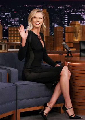 Karlie Kloss on 'The Tonight Show Starring Jimmy Fallon' in NYC