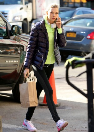 Karlie Kloss in Tights Out in NYC