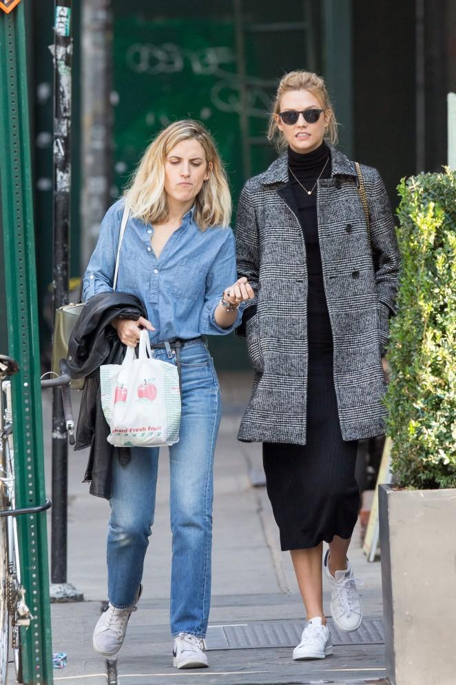 Karlie Kloss out in Manhattan