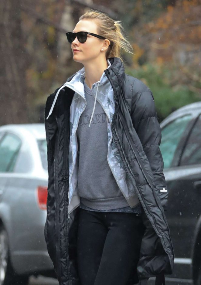 Karlie Kloss out running errands in New York
