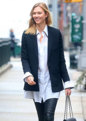 Karlie Kloss running errands in New York City