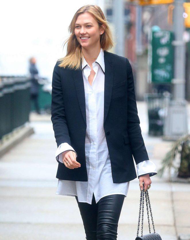 Karlie Kloss running errands in New York City