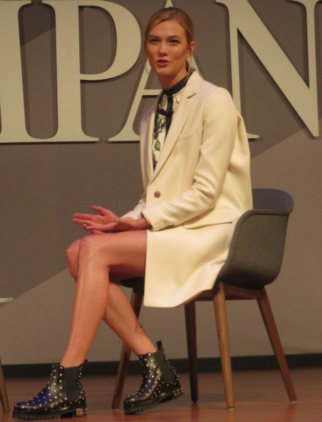 Karlie Kloss - Speaking at The Fast Company Innovation Festival in NYC