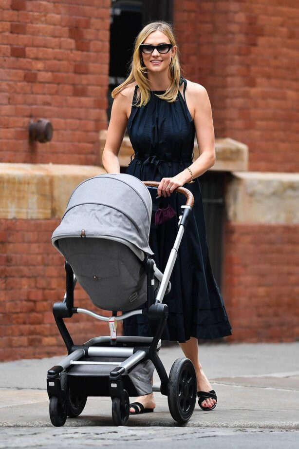 Karlie Kloss - Takes baby Levi for a stroll in New York