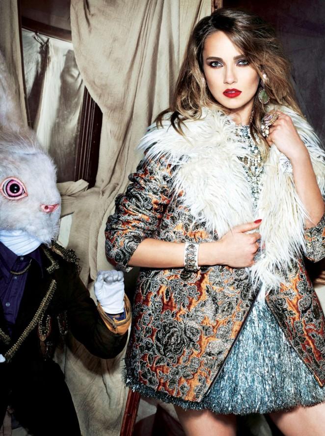 Karmen Pedaru by Arved Colvin-Smith for Sunday Times Style (December 2015)