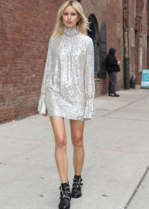 Karolina Kurkova - Arrives at Zadig and Voltaire Show in New York