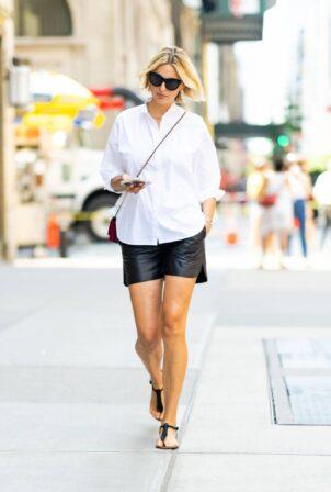 Karolina Kurkova - In short seen in Midtown in New York City