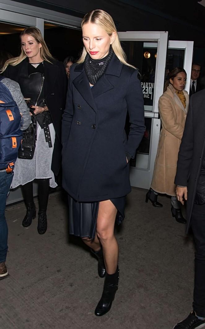Karolina Kurkova - Leaving Prabal Gurung 2016 Fashion Show in NYC
