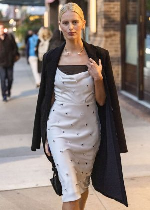 Karolina Kurkova - Leaving The Greenwich Hotel in New York