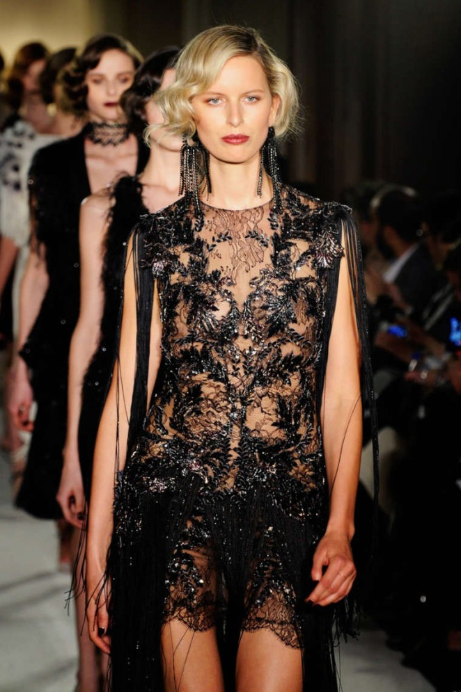 Karolina Kurkova - Marchesa  Fashion Show 2015 in New York City