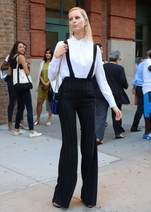 Karolina Kurkova out on the streets of New York City
