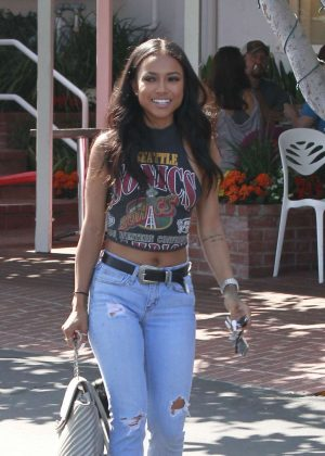 Karreuche Tran in Jeans out in West Hollywood