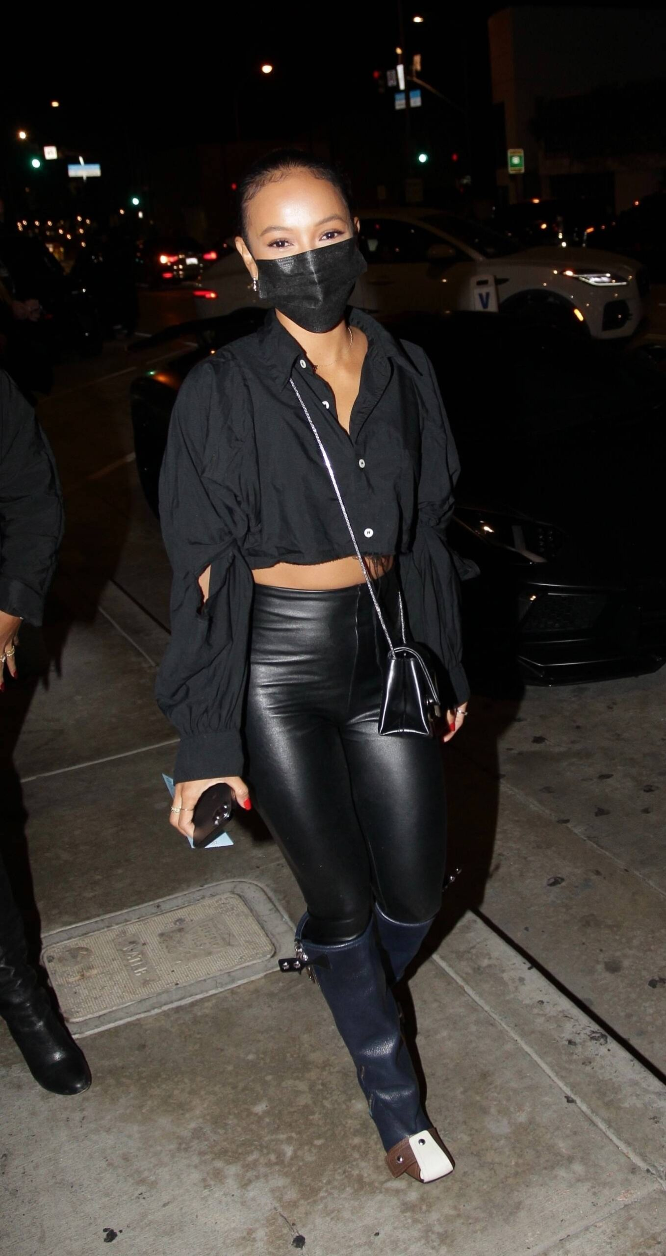 Karruche Tran - Is in good spirits at Catch in West Hollywood