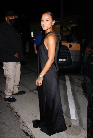 Karrueche Tran - after dinner at Craig's in West Hollywood