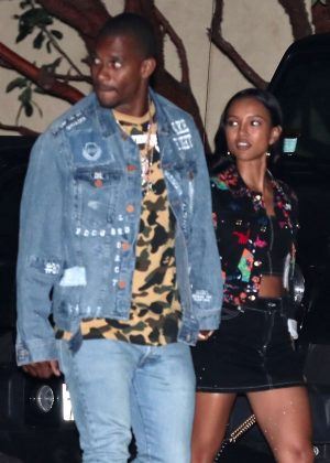 Karrueche Tran and Victor Cruz at Nobu in Malibu