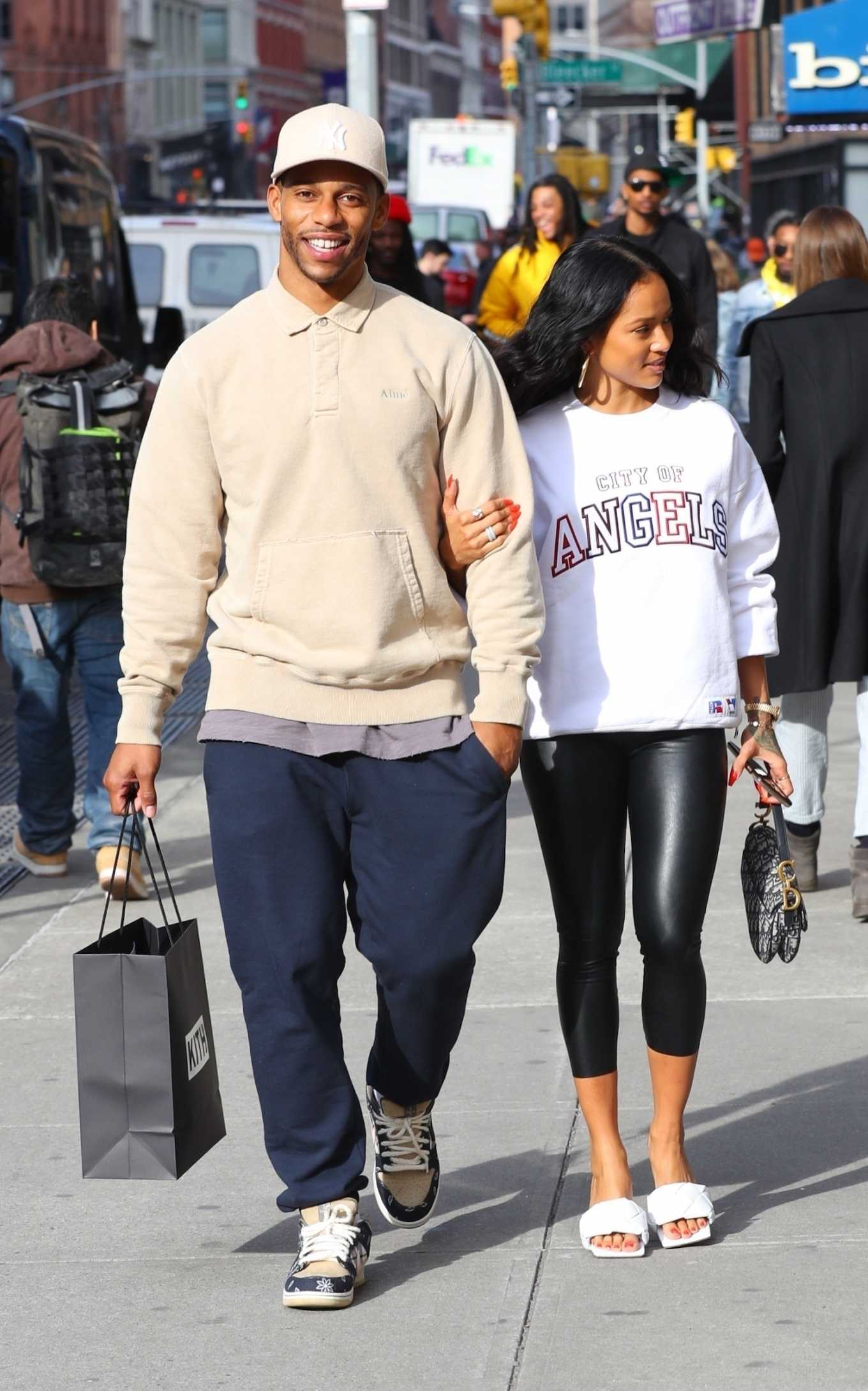 Karrueche Tran and Victor Cruz - Shopping at Kith in NYC
