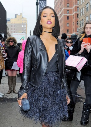 Karrueche Tran - Arrives at Jerremy Scott NYFW 2016 in New York