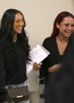 Karrueche Tran - Arrives at LAX Airport in Los Angeles