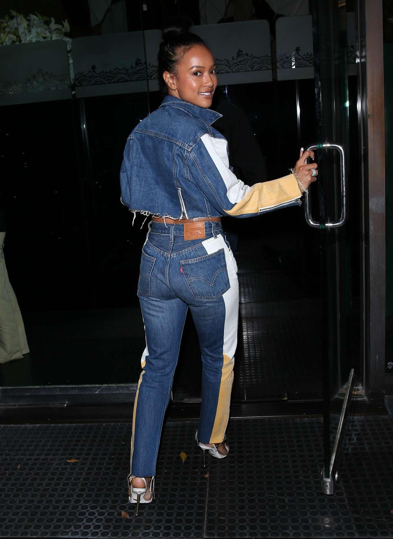 Karrueche Tran 2020 : Karrueche Tran – Arrives to dinner at Mr Chows in Beverly Hills-06