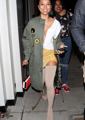 Karrueche Tran at Catch Restaurant in West Hollywood