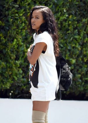Karrueche Tran at Cecconi's in West Hollywood