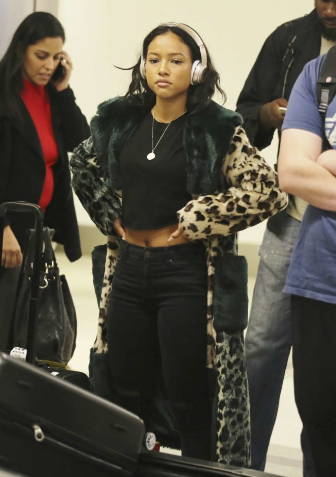 Karrueche Tran at LAX International Airport in Los Angeles