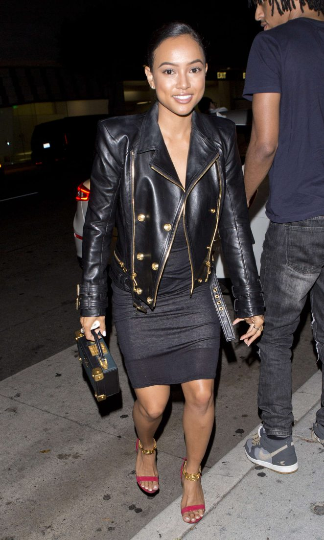 Karrueche Tran at 'Mr Chow' Restaurant in Beverly Hills