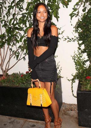 Karrueche Tran at TAO restaurant in Hollywood