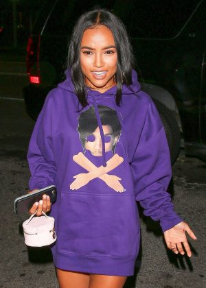 Karrueche Tran at The Nice Guy in West Hollywood
