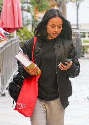 Karrueche Tran at Topshop and Topman in West Hollywood
