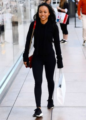 Karrueche Tran - Christmas shopping at The Grove in West Hollywood