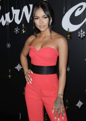 Karrueche Tran - Curve Fragrances for Men Holiday Party in New York City