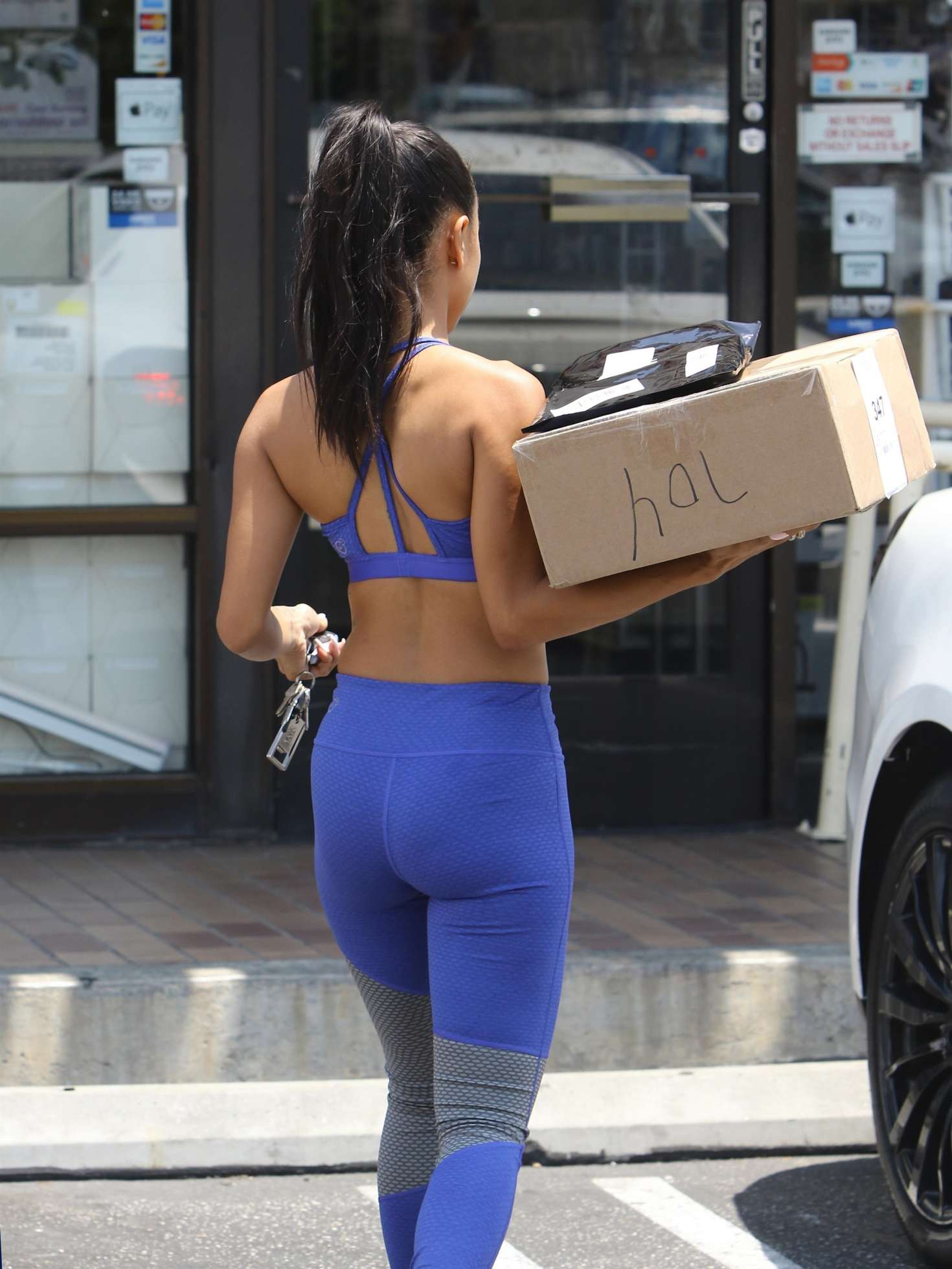 Karrueche tran in spandex out in west hollywood new pics